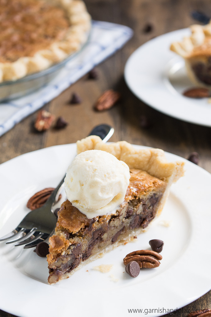 Toll House Chocolate Chip Cookie Pie combines two favorites into a rich chocolatey dessert that the whole family will love!