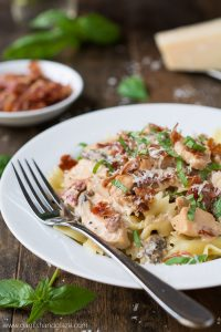 Enjoy Macaroni Grill's flavorful Chicken Pasta Milano at home!