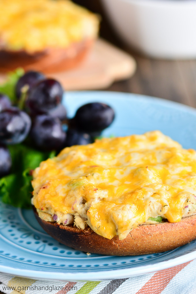 bagel tuna melts