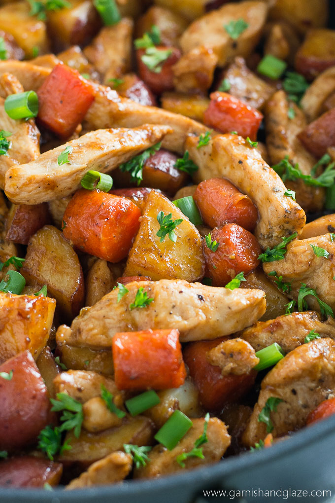 Try This One Skillet BBQ Chicken And Potatoes For A Yummy Healthy Family Meal That Is