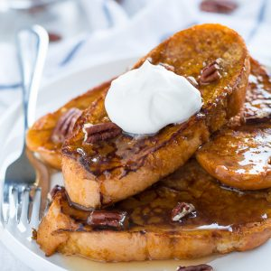 Start off a cool fall day the right way-- with some Pumpkin French Toast!