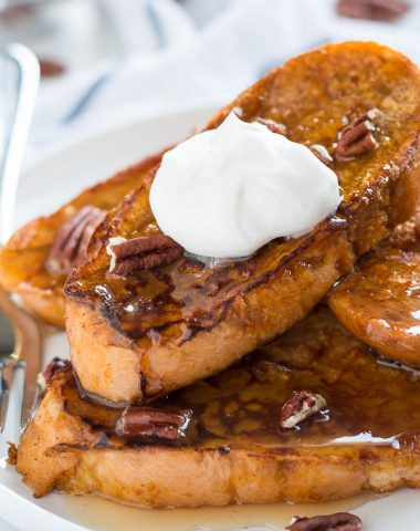 Start off those cool fall days the right way-- with a few slices of Pumpkin French Toast!