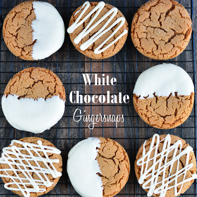 Spread the holiday joy with these soft White Chocolate Dipped Gingersnaps!