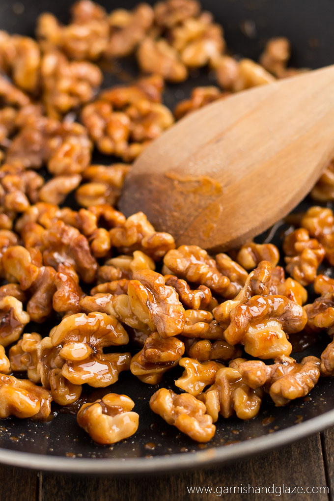 Honey Glazed Walnuts - Garnish & Glaze
