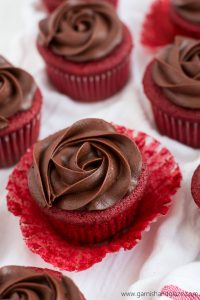 These Chocolate Rose Red Velvet Cupcakes are the only flowers you are going to want this Valentine's Day!