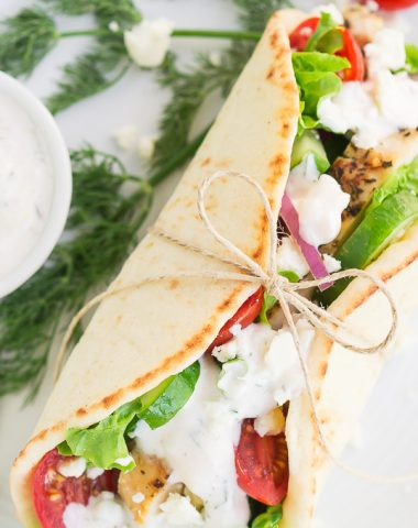 Whether you're celebrating the release of My Big Fat Greek Wedding 2 or just want some yummy Greek food, these Greek Chicken Gyros with Tzatziki Sauce make for an easy and delicious meal.