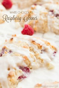 Serve White Chocolate Raspberry Scones at your next Sunday brunch for a super light and tender scone that no one will be able to stop talking about.