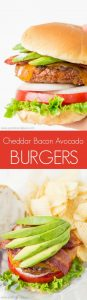 Fire up the grill and celebrate National Burger Day with these flavor packed Cheddar Bacon Avocado Burgers!