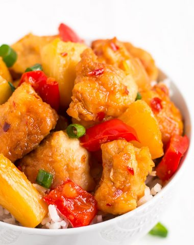 No need to order take-out with this scrumptious sweet and spicy SLOW COOKER THAI SWEET CHILI CHICKEN! It's got the classic Chinese food breading but without all the grease of frying!