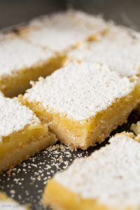 These lovely little Lemon Bars are made with a buttery shortbread crust topped with a tart yet sweet custard filling making them irresistible.
