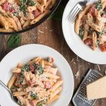 Conquer the hectic back-to-school schedule with easy weeknight meal recipes like this Creamy Tomato Chicken Florentine Pasta.