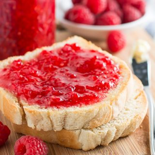 Always have delicious homemade jam on hand with this simple Raspberry Freezer Jam recipe. No special canning equipment needed!