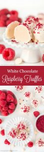 With just 5 ingredients, make the most amazing melt-in-your-mouth White Chocolate Raspberry Truffles to delight in this holiday season.