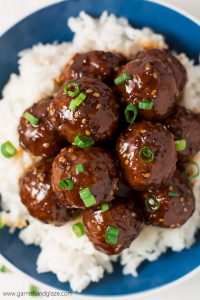 Party it up this holiday season and celebrate Chrismukkah with these simple, tender and juicy 30 Minute Teriyaki Meatballs!