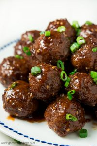 Party it up this holiday season and celebrate Chrismukkah with these simple tender and juicy 30 Minute Teriyaki Meatballs!