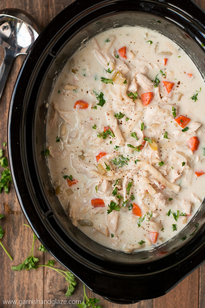 Add a little bit of homemade goodness to your life with this Slow Cooker Creamy Chicken Noodle Soup!