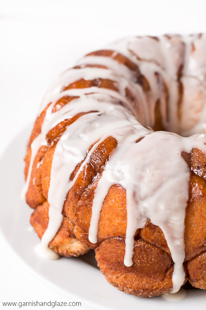 glazed monkey bread garnish glaze