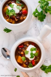 Squeeze more veggies in your diet this winter with this easy, healthy, and comforting Slow Cooker Butternut Squash Chili.