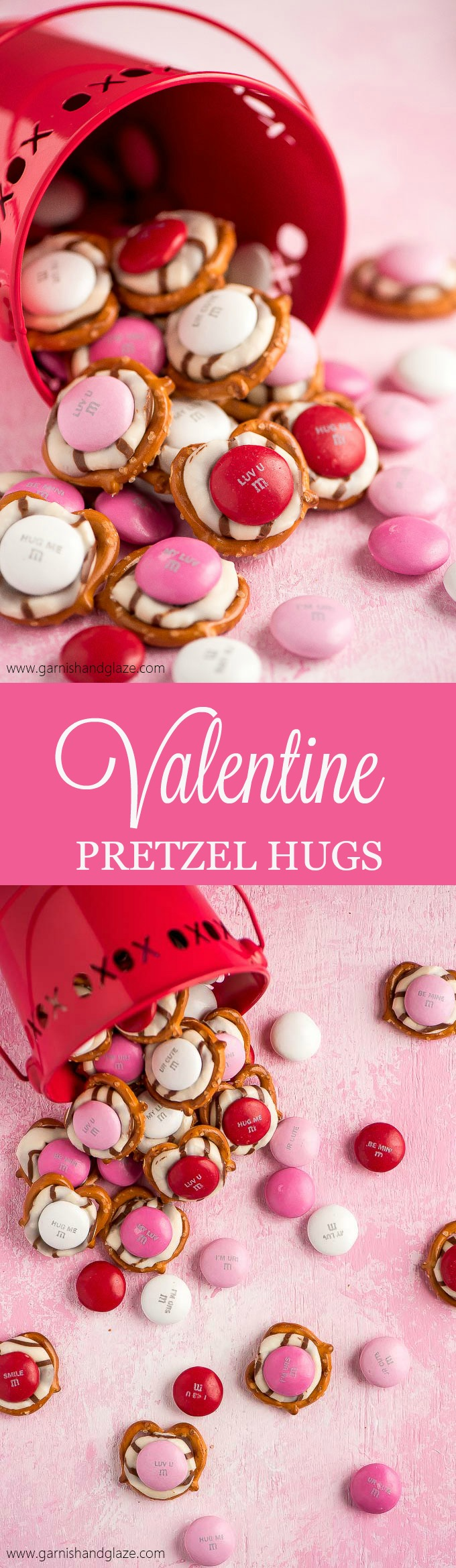 It takes just 3 ingredients to throw together these perfectly cute, extremely easy, and super yummy Valentine Pretzel Hugs.