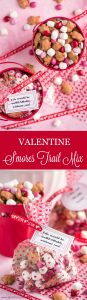 Valentine S'mores Trail Mixis your go-to last minute treat for a party or your child's valentines. Two minutes is all it takes to make this tasty treat!