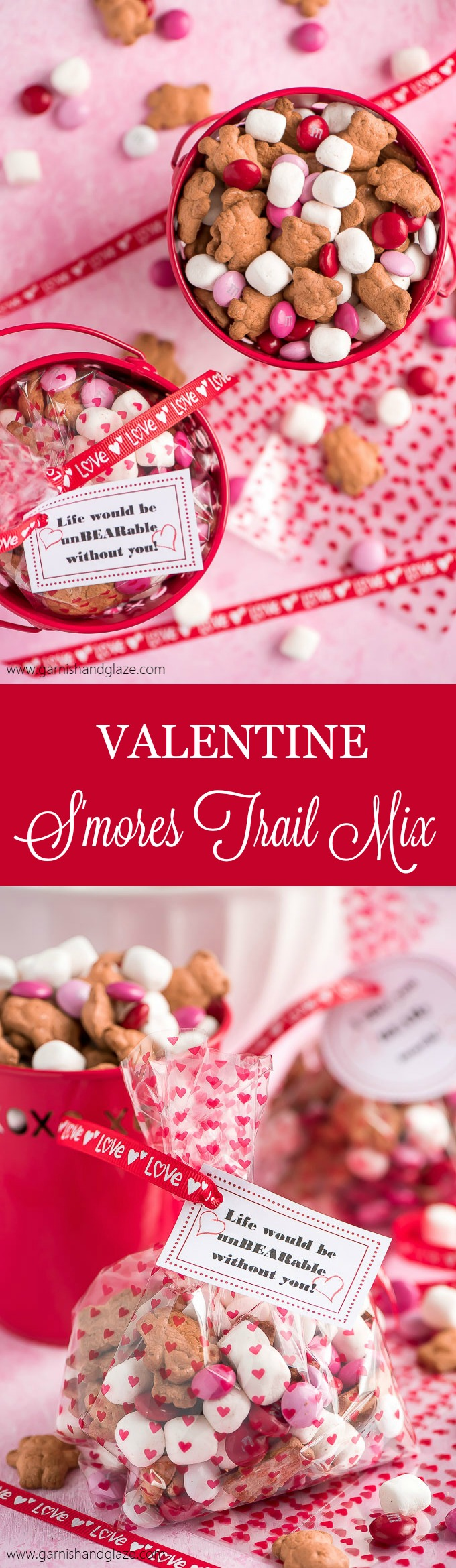 Valentine S'mores Trail Mix is your go-to last minute treat for a party or your child's valentines. Two minutes is all it takes to make this tasty treat!