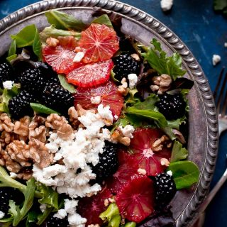 Blackberry Blood Orange Salad with Blood Orange Vinaigrette
