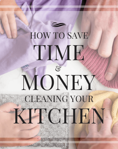 Learn how to save time and money cleaning your kitchen (chemical free!) so you have more time to cook and be with family.