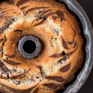 Chocolate Coconut Zebra Cake