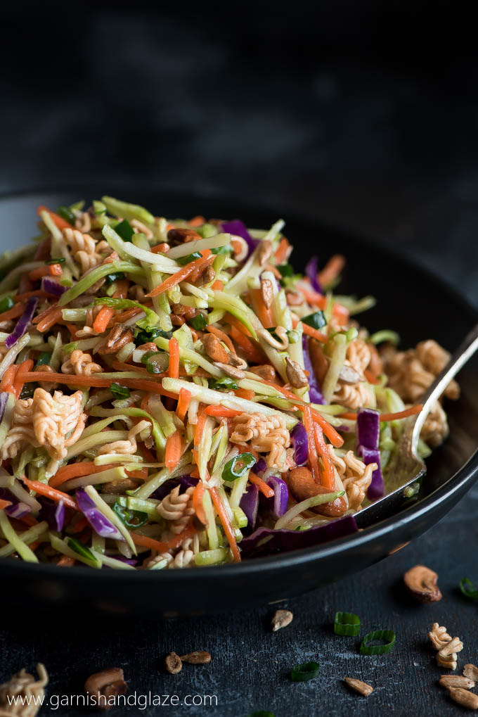 Crunchy Asian Broccoli Slaw Garnish Glaze