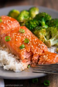 ONE PAN SESAME GINGER SALMON & BROCCOLI is your new go-to quick and healthy dinner (with easy clean up!) that the whole family will love.
