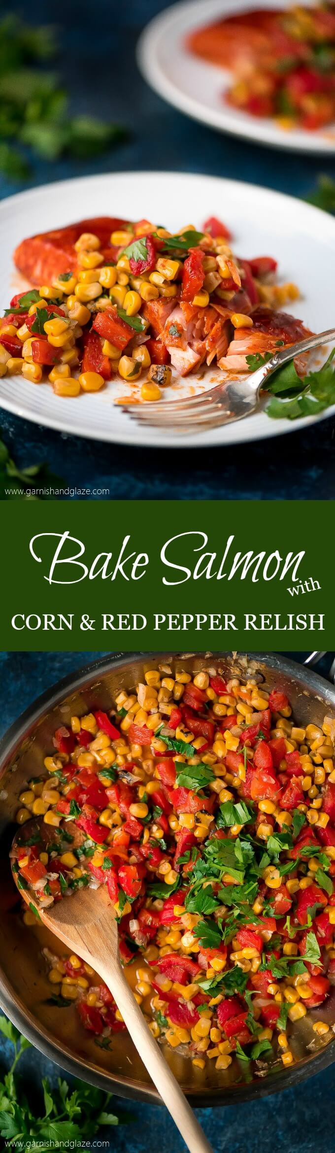 Baked Salmon With Corn & Red Pepper Relish Is A Veggie Filled, Flavor  Packed Meal