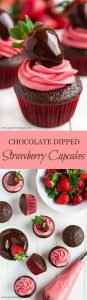 Everyone could use a little more chocolate in their life. Enjoy it with fresh fruit in these delectable CHOCOLATE DIPPED STRAWBERRY CUPCAKES!