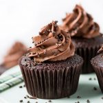 These one bowl Double Chocolate Cupcakes have an incredibly moist crumb and are topped with the silkiest chocolate buttercream frosting. Plus, enter the Rodelle Chocolate Package GIVEAWAY!