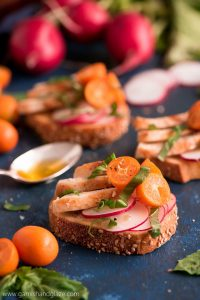 Chicken and Basil Citrus Crostini is a fun, unique, and simple appetizer that's packed with flavor using only six ingredients.
