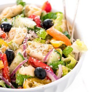 Rainbow Italian Tortellini Pasta Salad