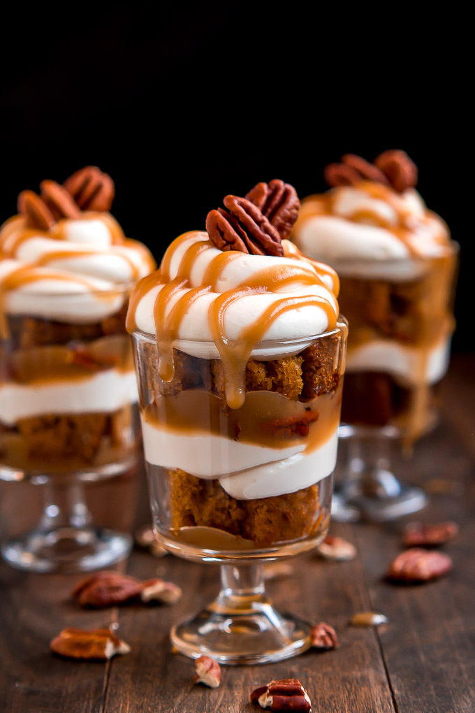 Mini Caramel Pecan Pumpkin Cheesecake Trifles - Garnish ...