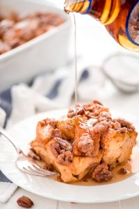 Prep this Overnight Pumpkin French Toast Casserole at night and wake up to enjoy a relaxing weekend morning with a delicious breakfast with the family.