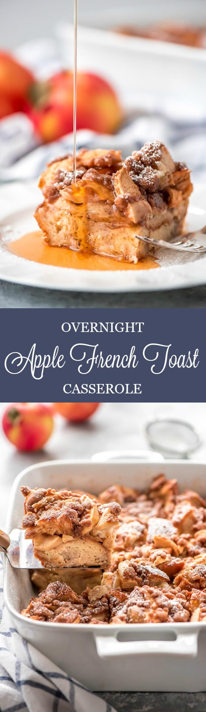 There's nothing better than waking up to a delicious warm breakfast that requires minimal effort like this Overnight Apple French Toast Casserole.