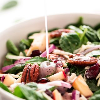 Autumn Poppy Seed Spinach Salad
