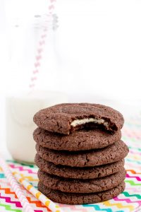 Cream Cheese Stuffed Cookiesare a rich sugar-coated chocolate cookie with a surprise inside- sweet cream cheese filling!