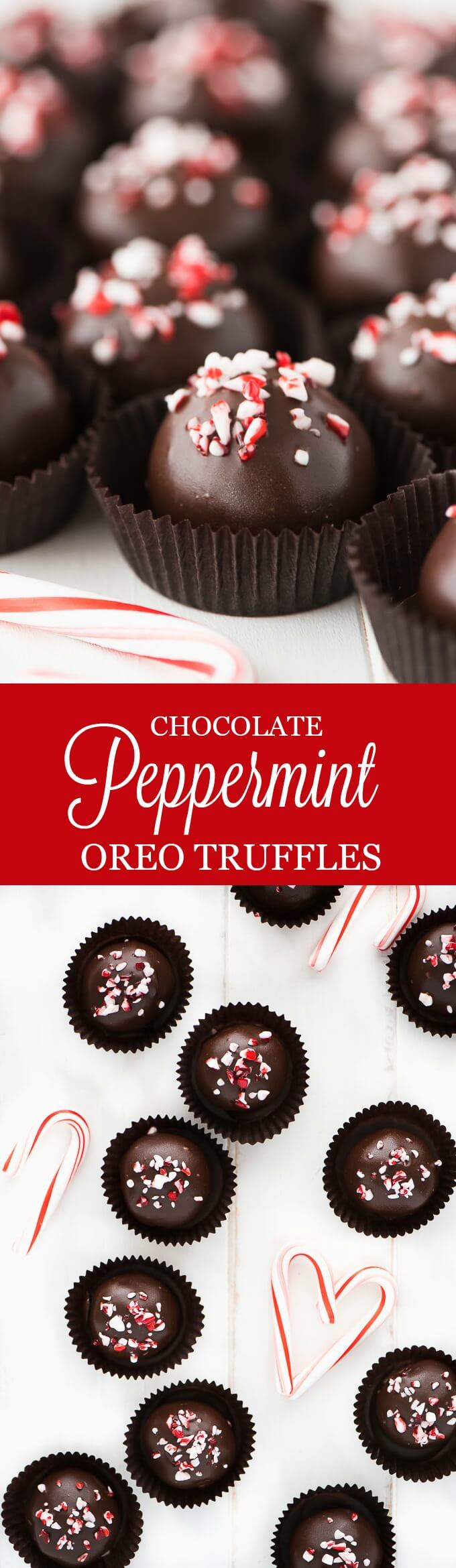 Spread the holiday cheer to those you love with a plate full of these super easy and delicious rich chocolate Peppermint Chocolate Oreo Truffles.
