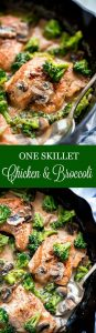 One Skillet Chicken and Broccoli is a super quick, creamy, delicious dinner that comes together in just 20 minutes and even faster to clean up.