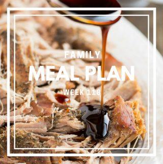 Meal Plan- Week 118