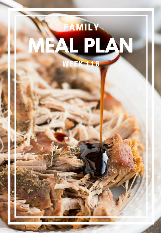 Meal Planning can be overwhelming. Here's a healthy meal plan that you could be enjoying this week with your family.