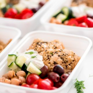 Instant Pot Greek Chicken Quinoa Bowls {Meal Prep}
