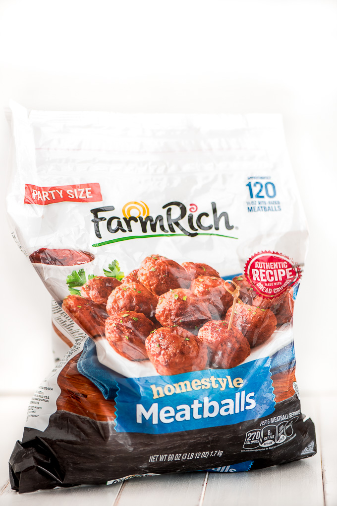 Bag of Farm Rich Homestyle meatballs