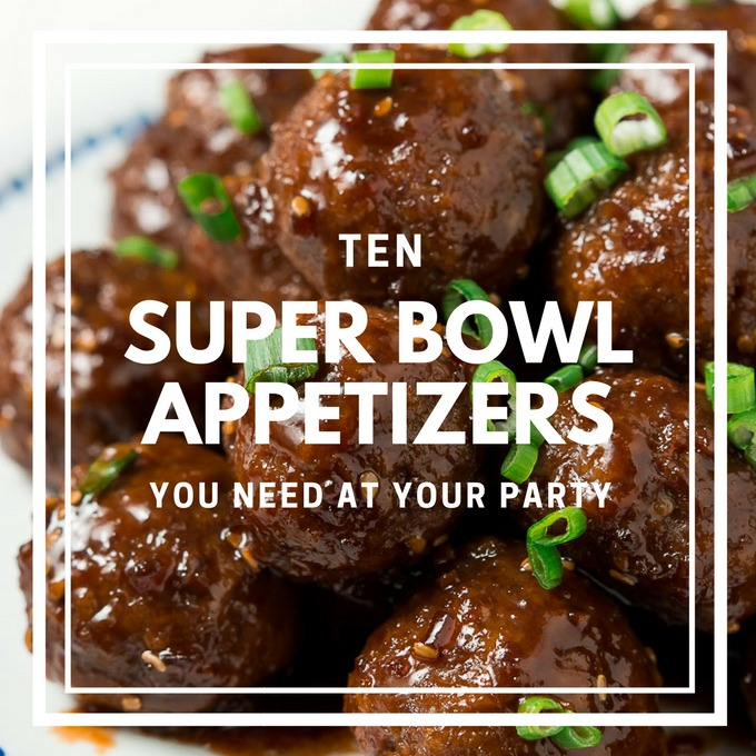 10 super bowl appetizers you need at your party garnish for Super bowl appetizers pinterest
