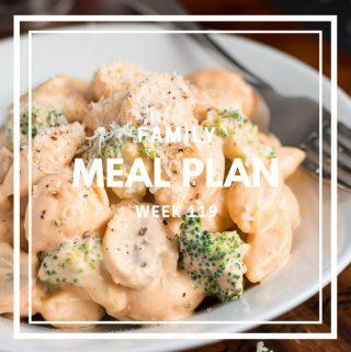Meal Plan- Week 119