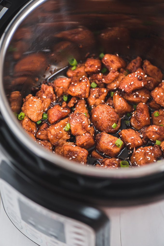 Asian Honey Chicken in the Instant Pot pressure cooker.