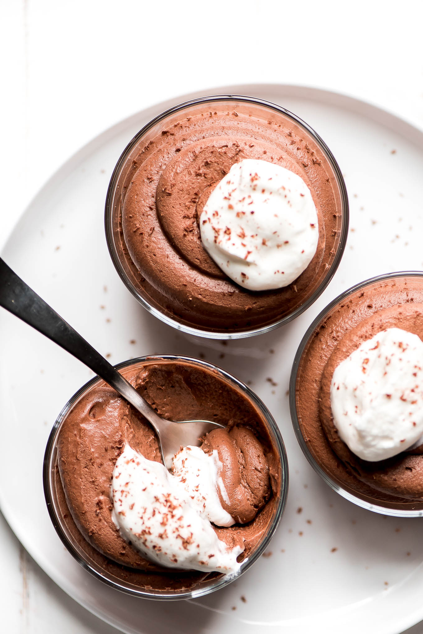 Easy Chocolate Mousse Garnish Glaze
